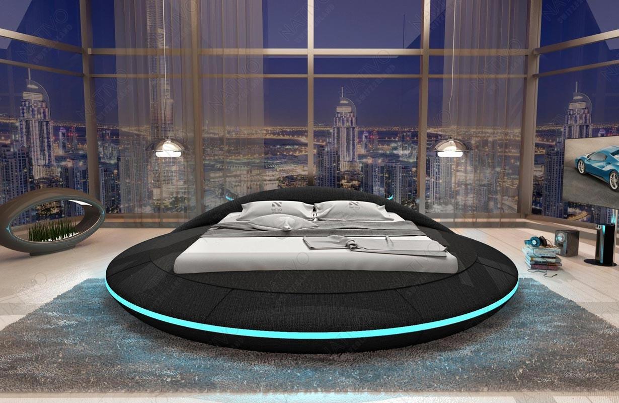 MARS kárpitozott ágy LED világítással és USB csatlakozóval