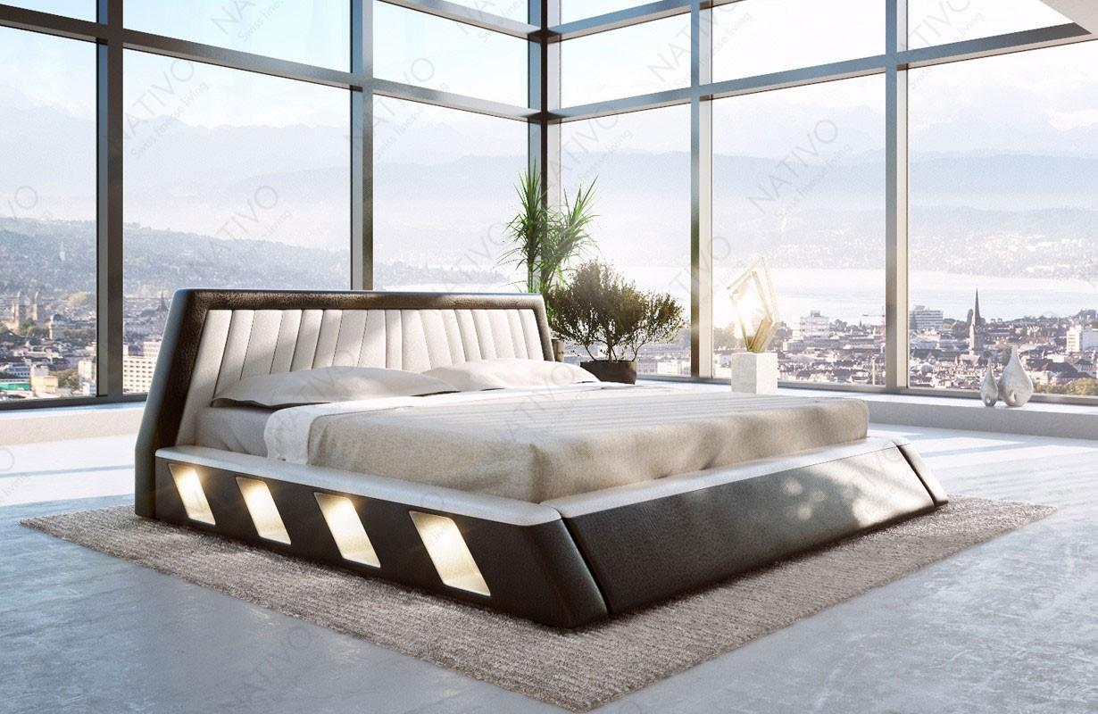 LENOX kárpitozott ágy LED világítással