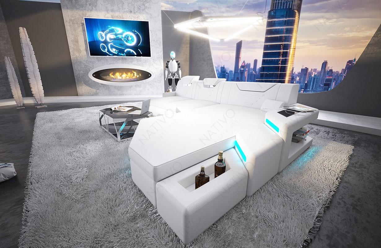 NEMESIS MINI dizájn kanapé LED világítással és USB csatlakozóval