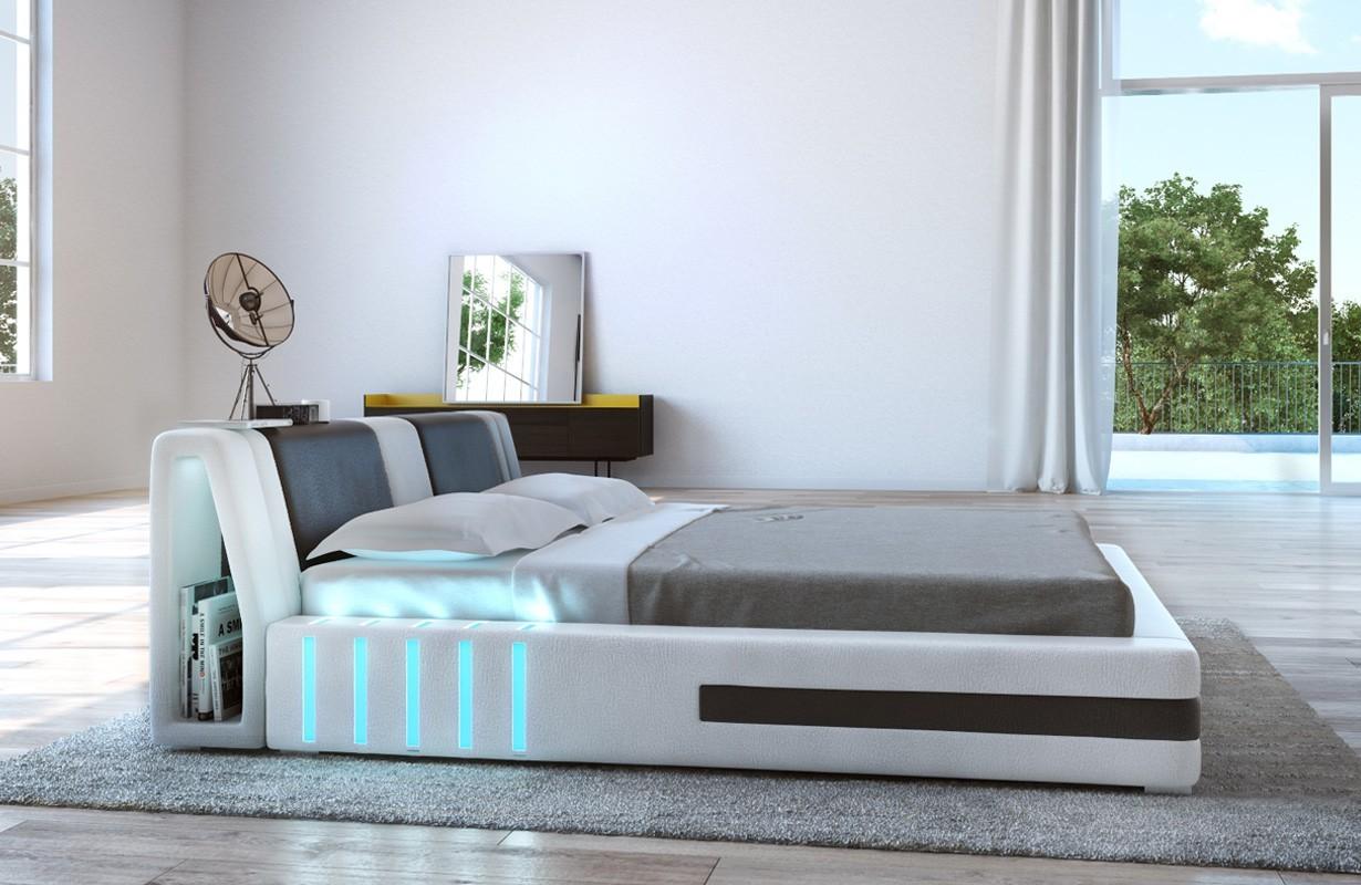 VENUM kárpitozott ágy LED világítással