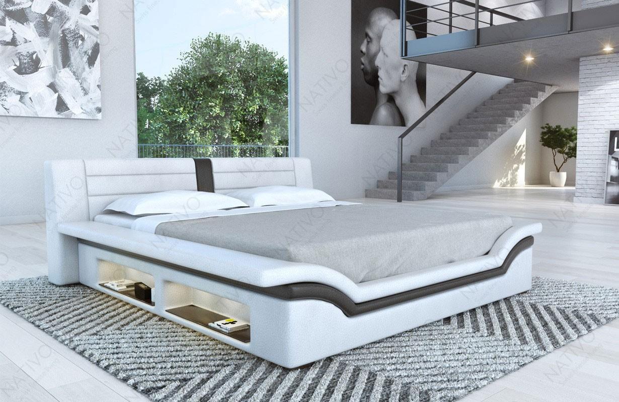 EVERLAST kárpitozott ágy LED világítással