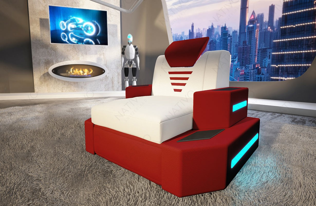 NEMESIS dizájn fotel LED világítással és USB csatlakozóval