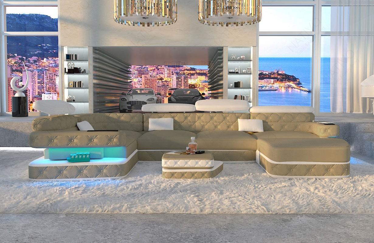 EXODUS XL dizájn kanapé LED világítással és USB csatlakozóval