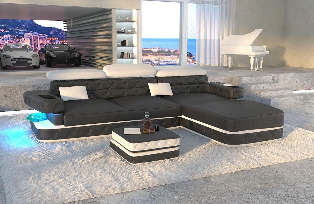 EXODUS MINI dizájn kanapé LED világítással és USB csatlakozóval