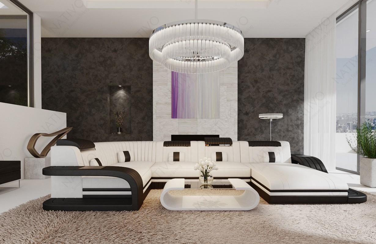 ROYAL XL dizájn kanapé LED világítással és USB csatlakozóval
