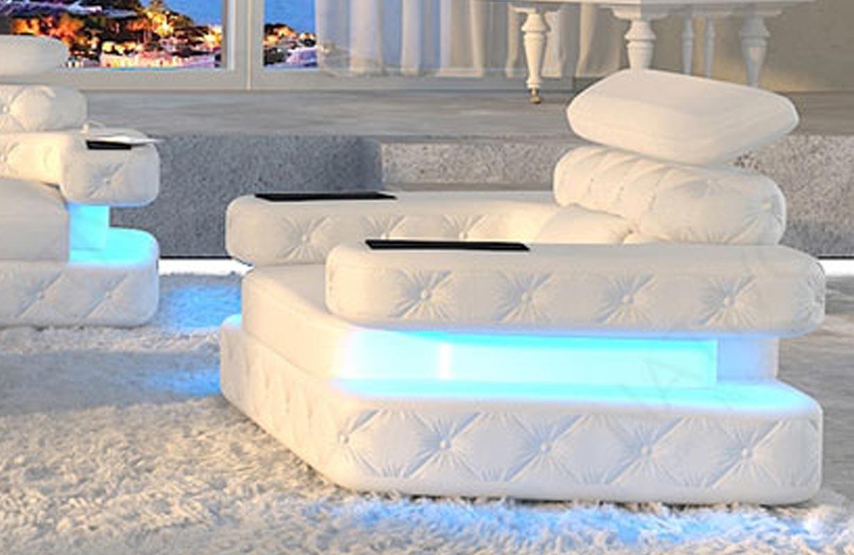 EXODUS dizájn fotel LED világítással és USB csatlakozóval
