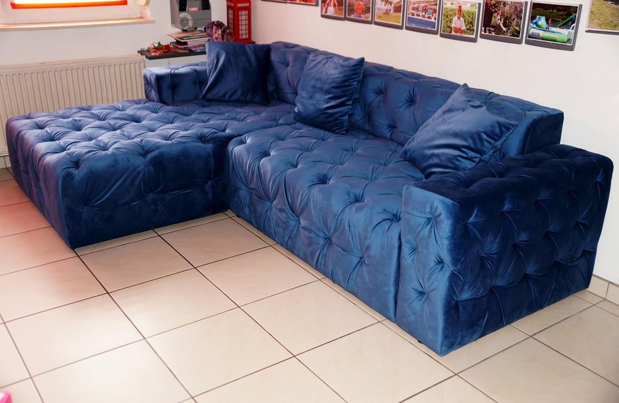 Kék dizájn szövet kanapé