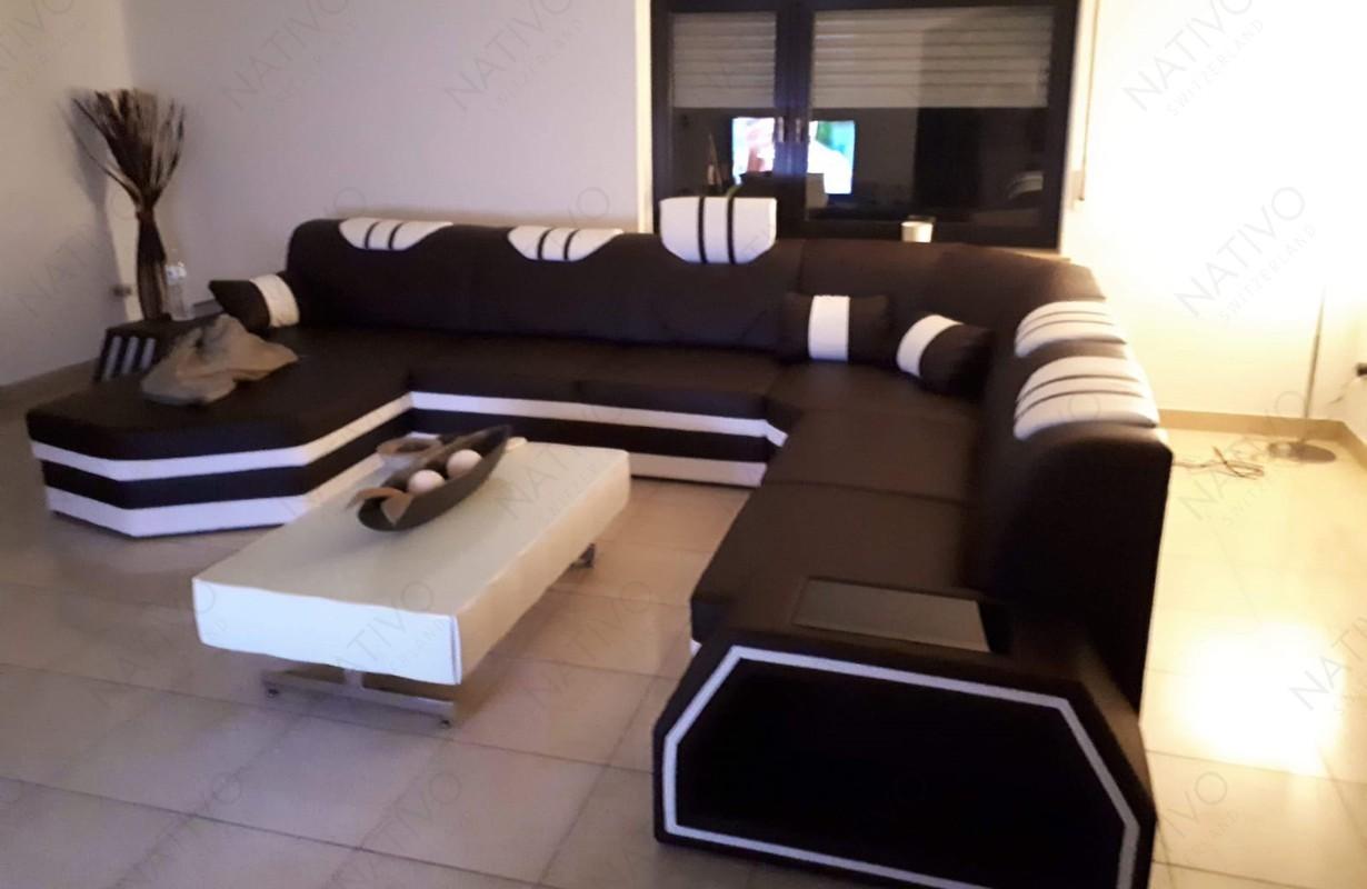 Magas minőségű dizájn kanapé LED világítással