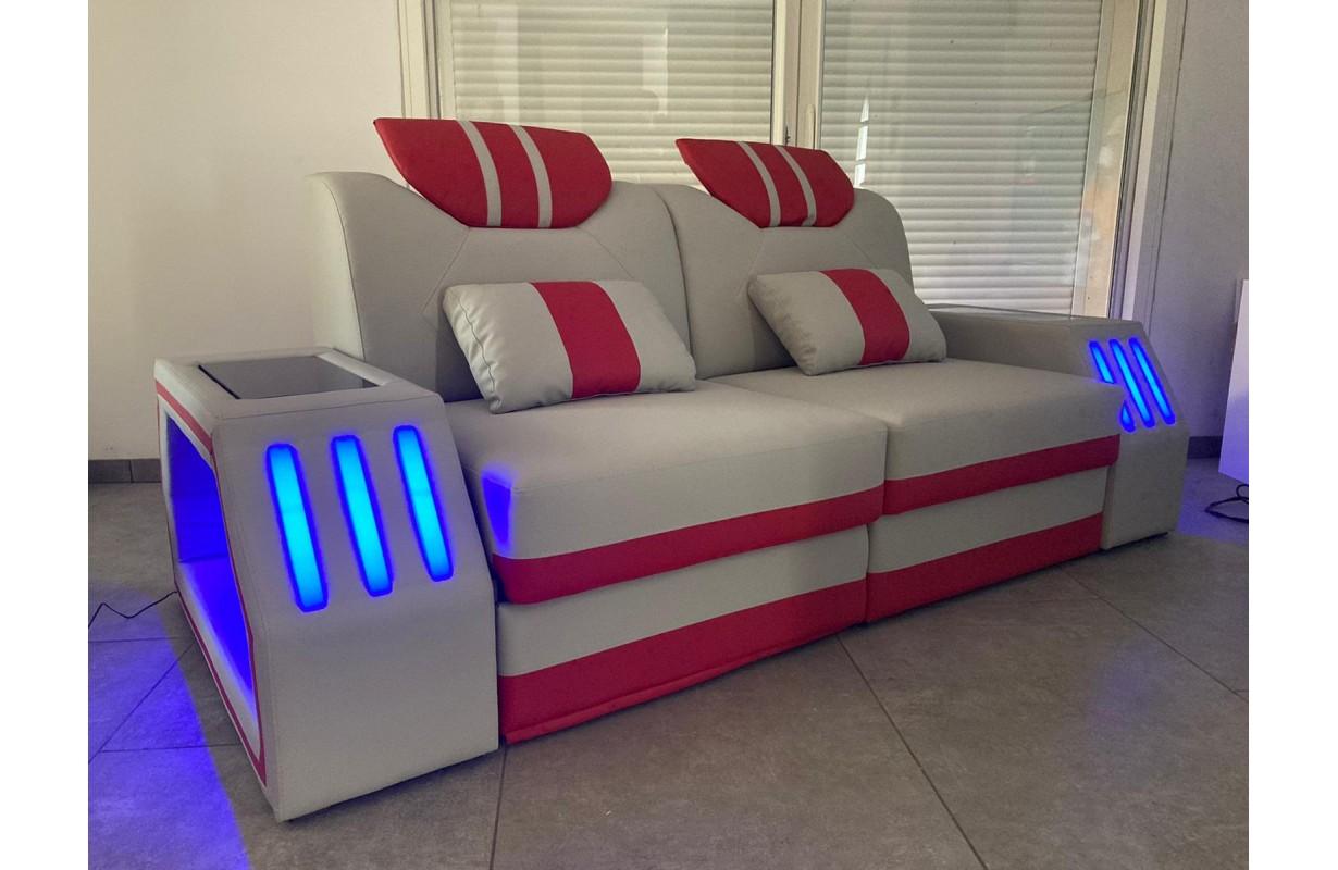 2 üléses dizájn kanapé LED világítással