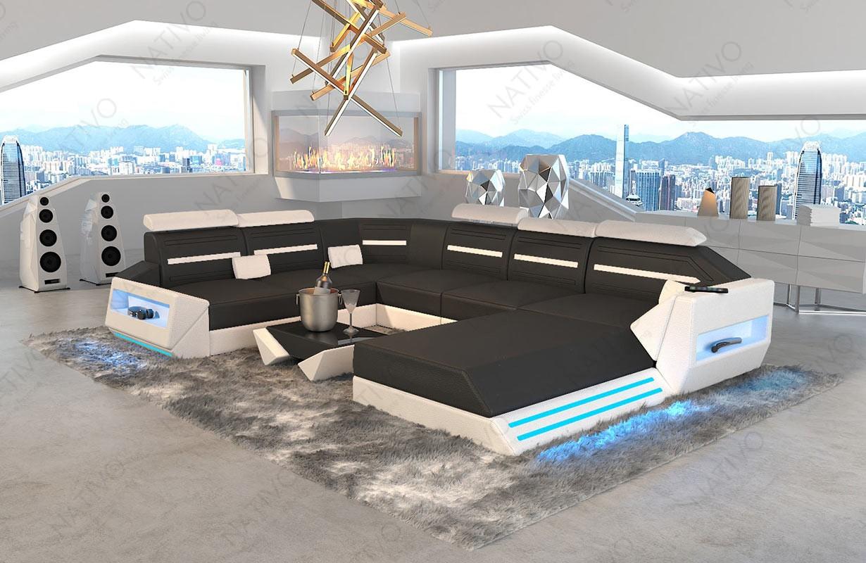 AVATAR XXL dizájn kanapé LED világítással és USB csatlakozóval