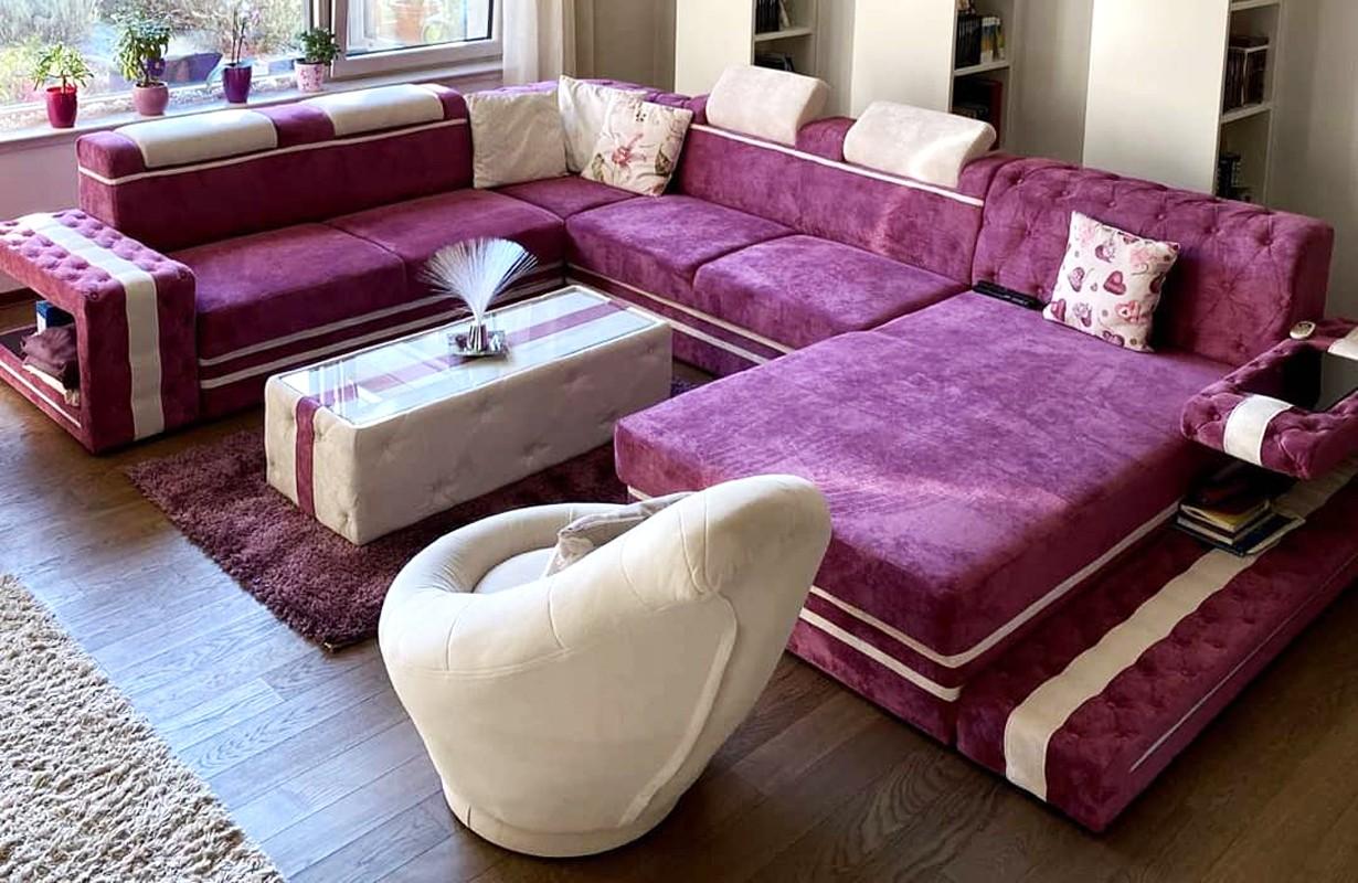 Dizájn kanapé LED világítással