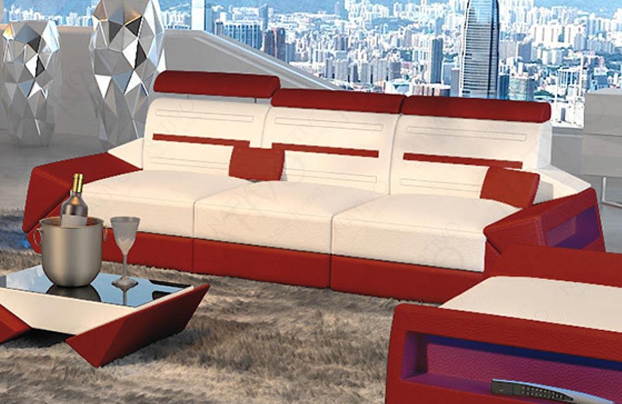 AVATAR 3 üléses dizájn kanapé LED világítással és USB csatlakozóval