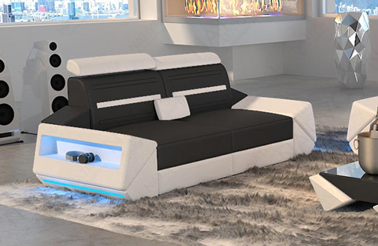 AVATAR 2 üléses dizájn kanapé LED világítással és USB csatlakozóval