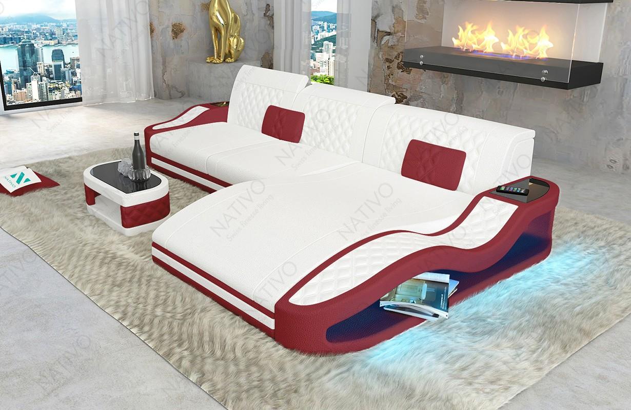 DIABLO MINI dizájn kanapé LED világítással és USB csatlakozóval