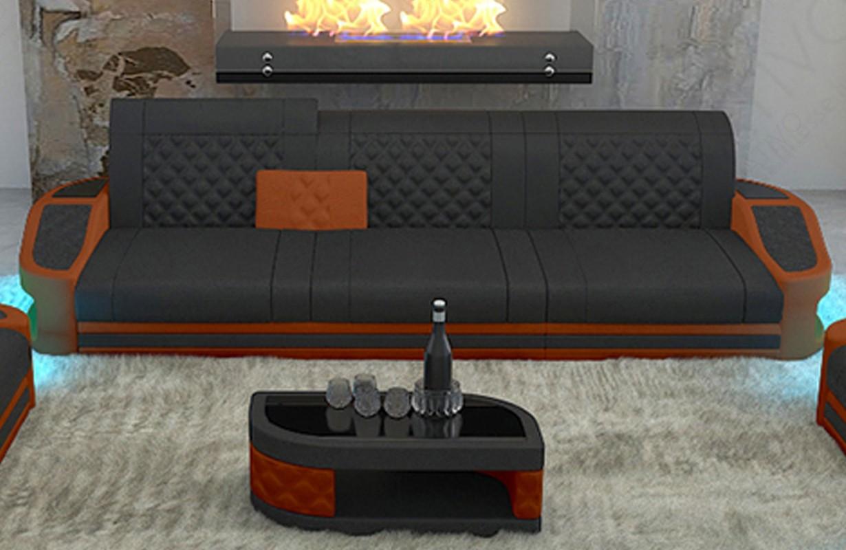 DIABLO 3 üléses dizájn kanapé LED világítással és USB csatlakozóval