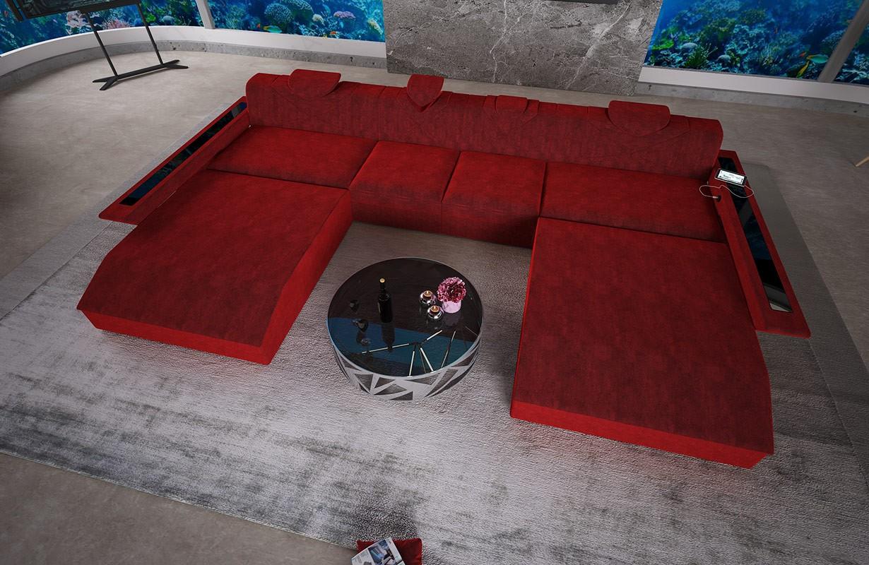 FALCO XXL DUO dizájn kanapé LED világítással és USB csatlakozóval