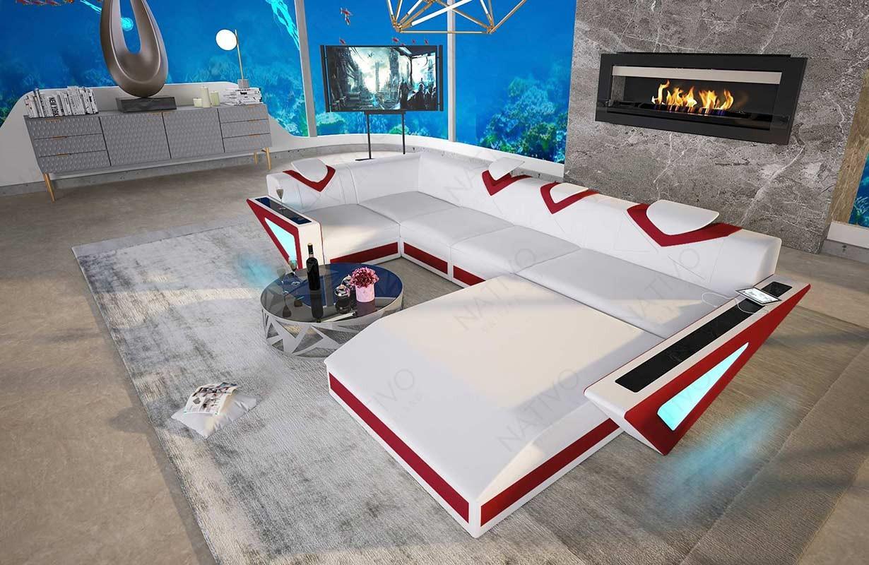 FALCO XL dizájn kanapé LED világítással és USB csatlakozóval