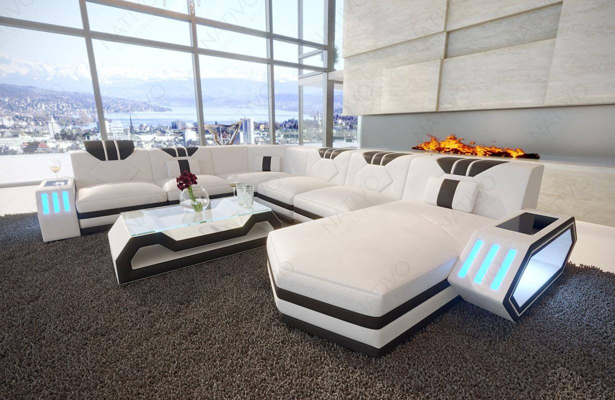 CLERMONT XXL dizájn kanapé LED világítással