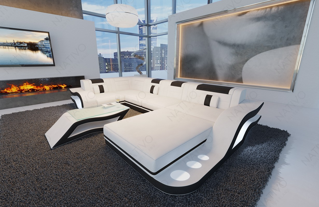HERMES XL dizájn kanapé LED világítással