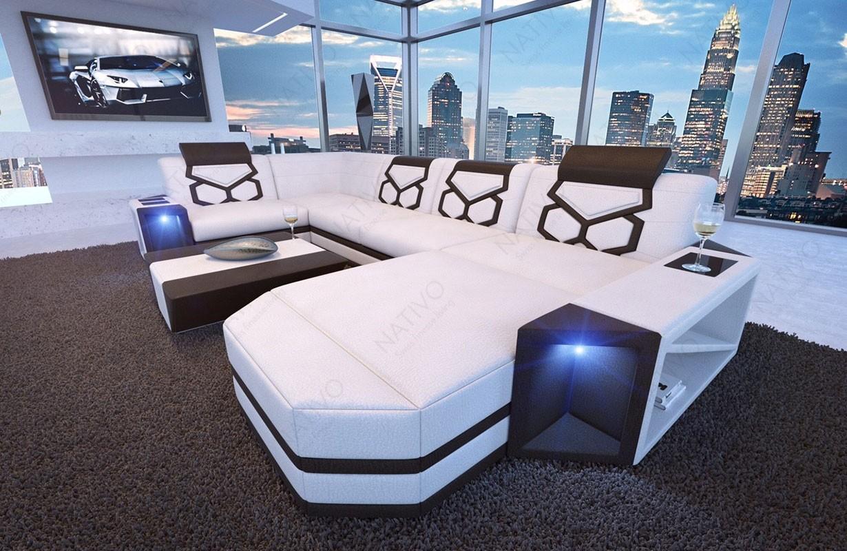 AVENTADOR XL dizájn kanapé LED világítással