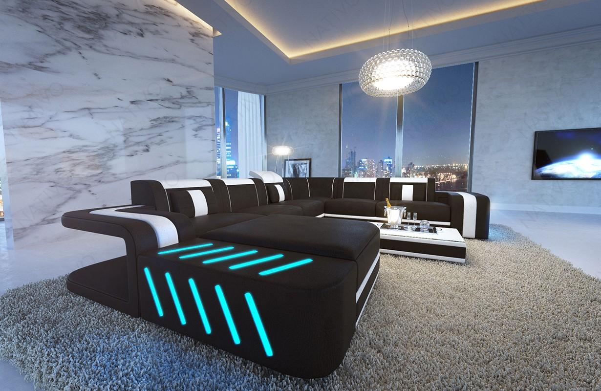 SPACE XXL dizájn kanapé LED világítással