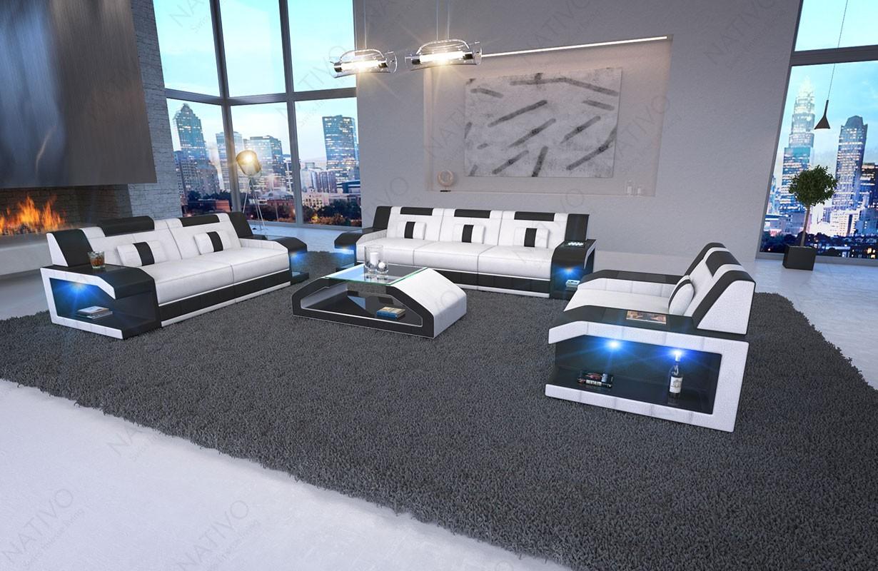 MATIS 3+2+1 dizájn kanapé LED világítással