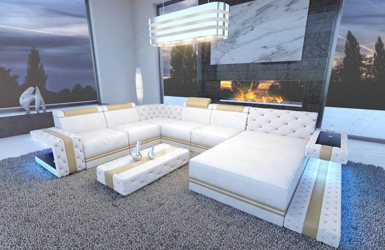 IMPERIAL XXL dizájn kanapé LED világítással