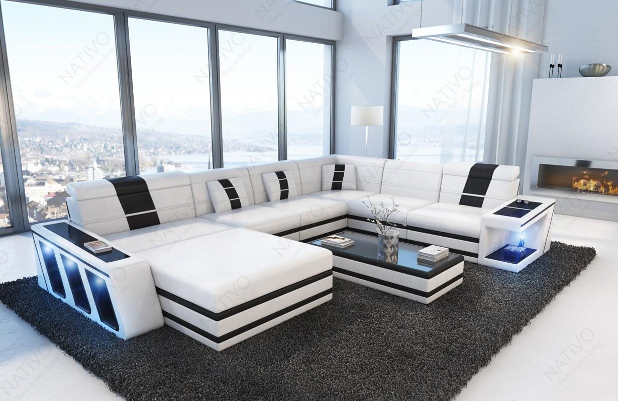 CAREZZA XXL dizájn kanapé LED világítással