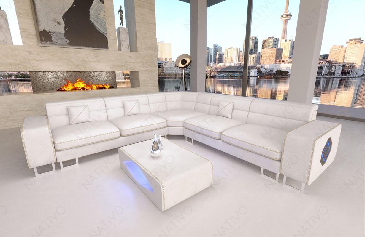 GREGORY CORNER dizájn kanapé LED világítással